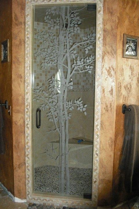 Etched, Custom & Sliding Glass Shower Doors