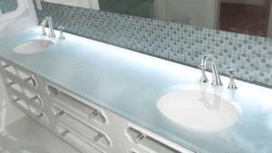 Using Glass Countertops in Your Bathroom