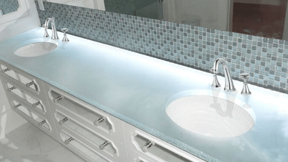 Using Glass Countertops in Your Bathroom