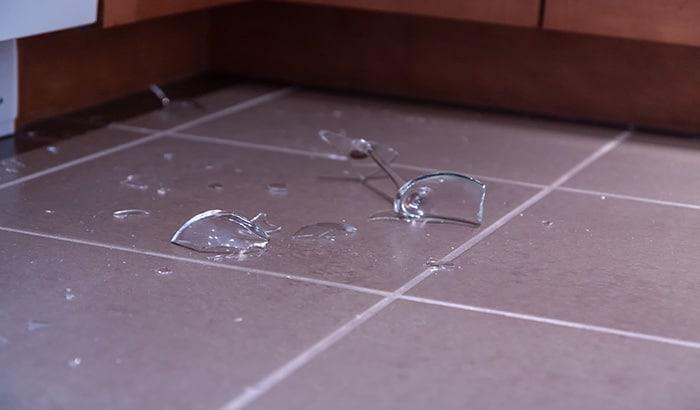 How Far Does Broken Glass Travel?